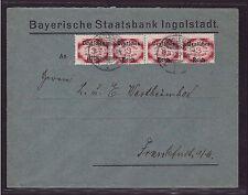 Deutsches Reich D 50 Viererstreifen Fernbrief gestempelt geprüft Dienst (21566)