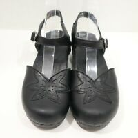 Dansko, Size 38 Mary Jane Size 7.5/8 Leather Black