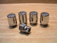 Set of 4 Chrome SuperNuts Tapered Locking 12mm x 1.25 Wheel Lugs and Removal Key