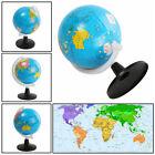 World Globe Rotating Swivel Map of Earth Atlas Geography Diameter 8.5cm Gift