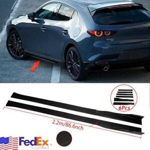 "86"" Side Skirt Rocker Panel For Mazda 3 Axela 6 Atenza 2 3 5 6 CX-3 CX-4 CX-5 US"