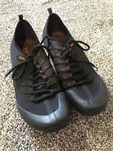 Tsubo Mens Shoes Black Slip On Lace Up Men's Size 13 Black Orange