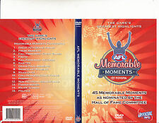 AFL:Memorable Moments-By The Hall of Fame Committee-Football Australia AFL-DVD
