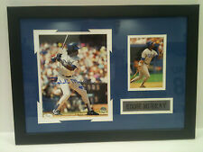 Framed Signed L.A. Dodgers Eddie Murray 8x10 Photo collage JSA COA