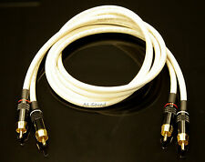 Van Damme White Ultra 2 Metre Pair Interconnect Cables RCA To RCA (Phono) NEW