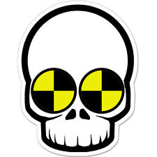 "Skull Crash Test Dummy Styling car bumper sticker decal 5"" x 4"""