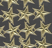 STARS GOLD BEADED  EMBELLISH MEDUIM PAPER FOIL DRESDEN GERMAN CELESTIAL 5 POINT