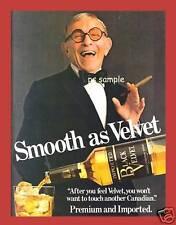 Black Velvet Whiskey - George Burns - Vintage Ad Magnet