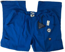 Koi Tech Lindsey 2.0 Womens Plus 3X Regular Royal Blue Scrub Pants #724-R Nwt