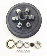"One 12""X2"" Trailer Brake Hub Drum Kit 6 on 5.5"" for 5200 - 6000 lbs axle -22003K"