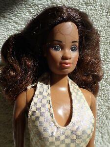 Vintage Sun Gold Malibu Black Barbie Doll HTF