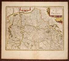 carte geographique ancienne GOUVERNEMENT DE L'ILE DE FRANCE Jansson 1640