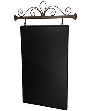 Ardoise Murale de Cuisine d'Entree Plaque Metal Deco Tableau Noir Rectangle 76cm