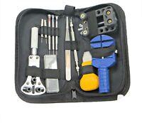 Watch Repair Tool Kit Opener Link Remover Spring Bar With Carry Case EK