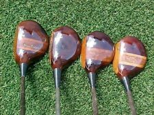 Old Wilson Rare PERSIMMON Woods Set Golf Clubs Gene Sarazen Driver 2 & 2 Spoons