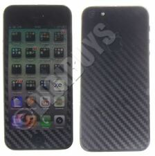 Black Carbon Fiber Vinyl sticker full body kit case cover wrap for iPhone 5S/SE