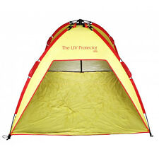2m x 2m Red & Yellow SHELTA UV PROTECTOR Pop-Up Beach Shelter Shade Sun Tent