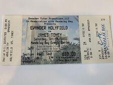 Evander Holyfield vs James Toney Boxing Ticket (Mandalay Bay) Las Vegas 2003