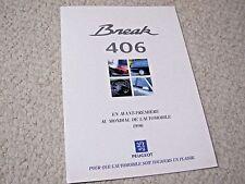 1996 PEUGEOT 406 BREAK (FRANCE) SALES BROCHURE...