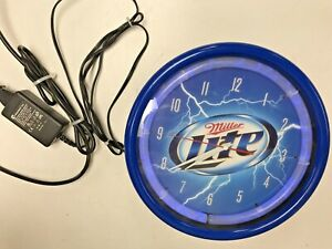 Miller Lite Plasma Neon Clock