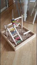 Wood Perch Gym Stand Exercise Playgym for Conure Lovebirds Exercise Play