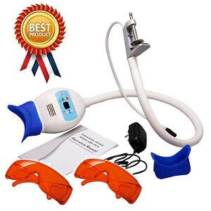 Coiled pipe dental teeth whitening lamp Bleaching Accelerator +Goggle P-UK