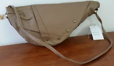 Vintage 80s GLAMOUR GIRL Genuine Leather BROWN Secretary Zip Top SHOULDER BAG