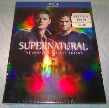 Supernatural - The Fifth Season (Blu-ray, 2010, 4-Disc Set) w/ Slipcover NEW