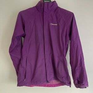 berghaus waterproof jacket - Size 14 UK - Purple - With Fold Away Hood