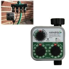 Automatic Water Timer 3-Dial Irrigation Controller Garden Hose Faucet Lawn -Tap