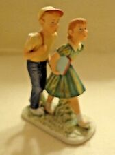 """Gorham """"A Day In The Life Of A Boy"""" Figurine,Norman Rockwell,Prcln, 1981, 6"""" Tll"""
