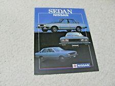1980's MEXICAN NISSAN SEDAN SALES BROCHURE...rare..