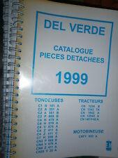 DEL VERDE tondeuses tracteurs motobineuses : catalogue pièces 1999