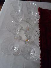 Huit verres à vin blanc en cristal taillé de type Tommy.