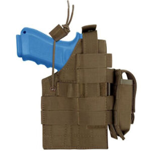 Condor H-Glock Ambidextrous Holster - Coyote - H-Glock -498 - MOLLE PALS