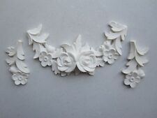 CHIC DECORATIVE FRENCH COUNTRY VINTAGE ROSE BURST FURNITURE/ FIREPLACE MOULDINGS
