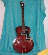 1956 Marvel Guitar Archtop F-Hole Electric  Beautiful Red Sunburst Kay built USA