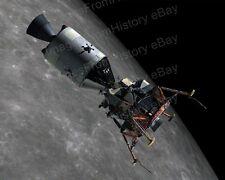 8x10 Print NASA Apollo 11 Space Vehicle CSM & LM Docked over Moon #AP11