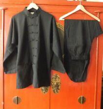Frauen Gr.165 Traditional Chinesisch Tai Chi Kung Fu Anzug Baumwolle-Leinen