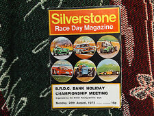 1972 SILVERSTONE PROGRAMME 28/8/72 - SIGNED BY ROD CONWAY & TIM WARNER - BRDC