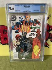 Superman #4 CGC 9.6. First Bloodsport. Newsstand Edition. 1987 DC Comics.