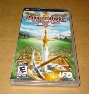 PSP Game Dungeon Maker II The Hidden War Play Station Portable UMD 2
