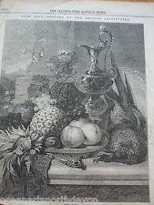 Stampa ANTICO DATATO 1846 il ILLUSTRATO LONDRA BELLE ARTI FRUTTA BRITISH VINTAGE