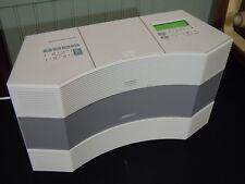 Bose Acoustic Wave Music System II - AM/FM/MP3/CD Platinum White Excellent Sound