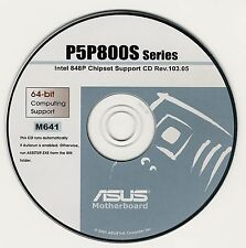 ASUS P5P800S Motherboard Drivers Installation Disk M641