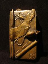Pyrogène (livre) en bronze 19ème à l'évocation des animaux