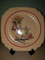 """Homer Laughlin Hacienda Dinner Plate Made in USA Vintage Farmhouse 8-9"""" C41N8"""