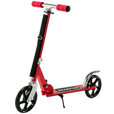 Folding Kick Scooter Aluminum Adjustable Height 36-41'' for Kids Adult Red