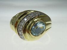 Ovaler Echtschmuck aus Gelbgold mit Diamant Ringe