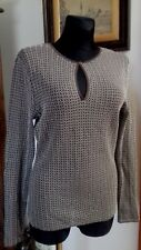 Wolford White/Brown Lace Long Sleeve Top Size L